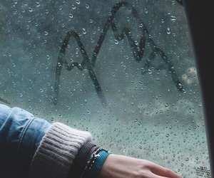 rain, mountains, and aesthetic image