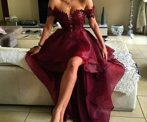 dress and burgundy image