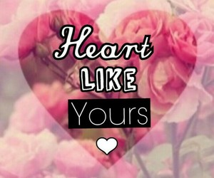 <3, yours, and heart image