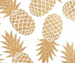 pineapple, gold, and wallpaper image