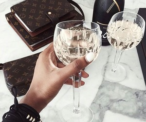 champagne, drink, and fancy image