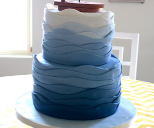 blue, cake, and ocean image