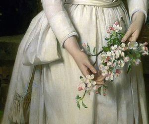 dress, flowers, and victorian image