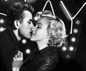 Marilyn Monroe, james dean, and kiss image