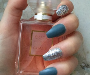 blue, coco chanel, and hand image