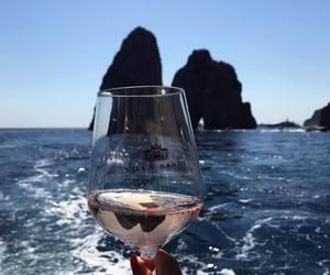 sea, wine, and summer image