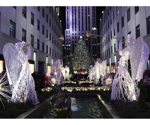 christmas, new york, and rockefeller center image