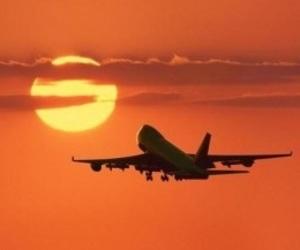 sun, plane, and travel image