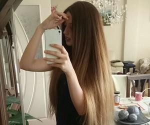 black, blonde hair, and brown hair image