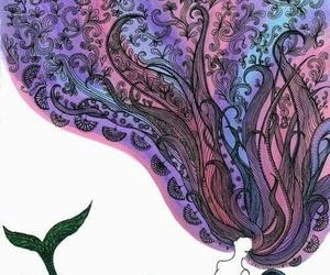 mermaid, hair, and art image