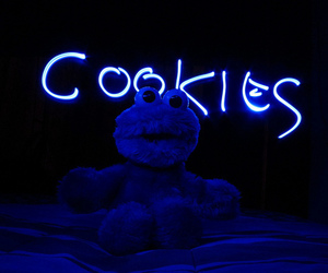 cookie monster, blue, and Cookies image