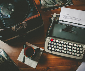 vintage, book, and coffee image