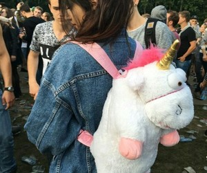 unicorn, girl, and cute image