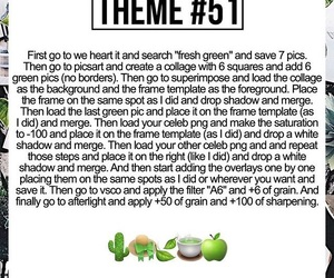 edit, theme, and green image