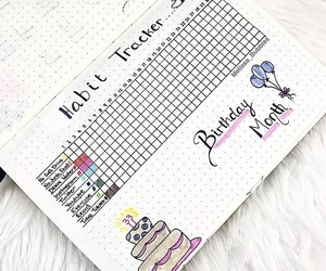 birthday, diary, and bujo image