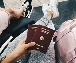passport, travel, and airport image