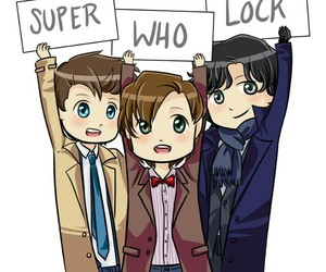 sherlock, supernatural, and doctor who image