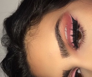 lashes, brows, and pink image