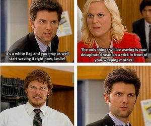 funny, parks and recreation, and leslie knope image