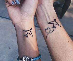 tattoo, plane, and tumblr image
