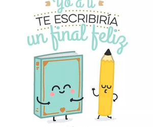 book, frases, and pencil image