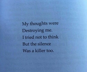 quotes, silence, and thoughts image