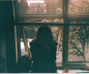 girl, alone, and window image