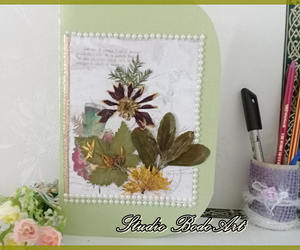 etsy, holiday card, and pressed flowers image