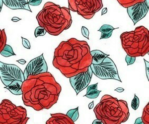 red, rose, and wallpaper image