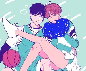 yoonseok, suga, and bts image