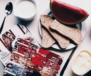 fashion, morning, and red image