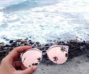 sunglasses, beach, and summer image