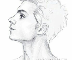 boy, portrait, and draw image