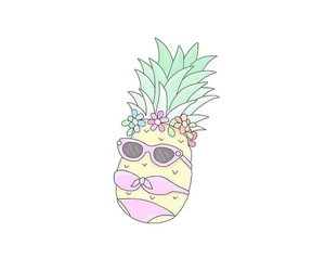 pineapple, summer, and cute image