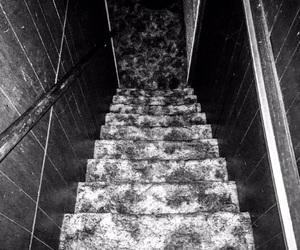 b&w, basement, and black image