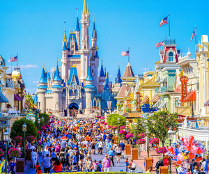 disney world, magic kingdom, and cinderella castle image