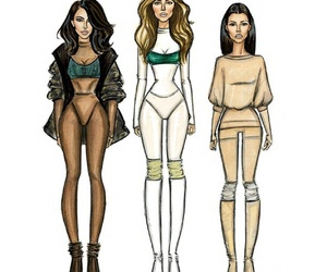 drawing, illustration, and kim kardashian image
