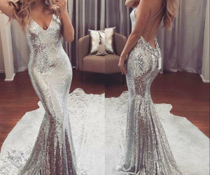 dress, style, and silver image