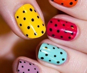 nails, colors, and dots image