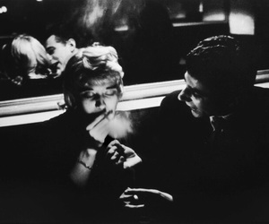 vintage, black and white, and cigarette image