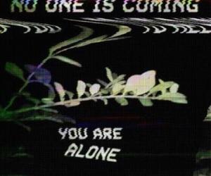 alone, grunge, and sad image