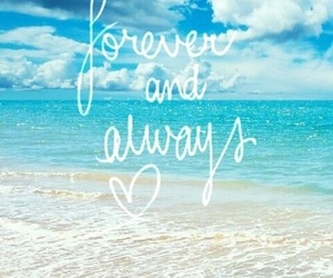beach, love, and always image