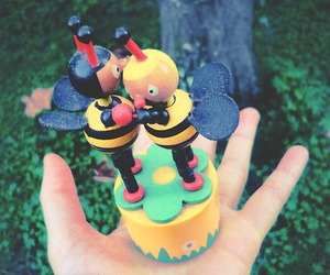 bees, figurine, and green image