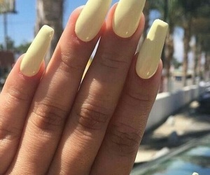 nails, yellow, and summer image