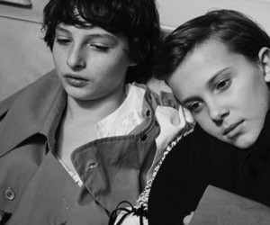 millie bobby brown, stranger things, and finn wolfhard image