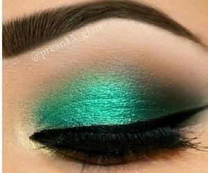 green, makeup, and beautiful image