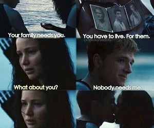 love, hunger games, and katniss image
