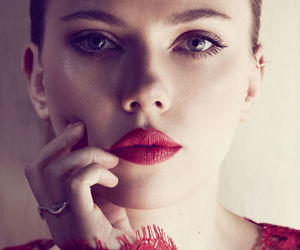Scarlett Johansson and red image