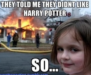 fire, harry potter, and house image
