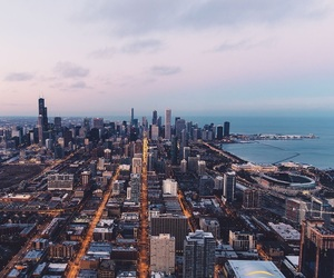 chicago, world, and travelling image